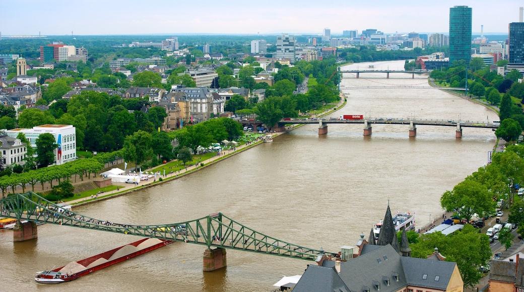Frankfurt featuring a bridge, landscape views and a river or creek