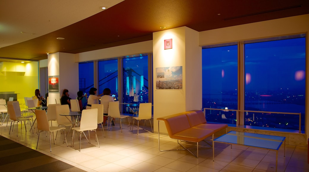 Umeda Sky Building showing dining out and interior views
