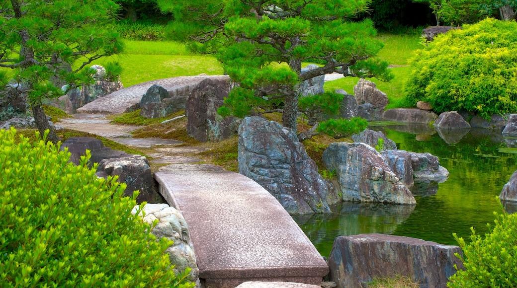ปราสาทนิโจ เนื้อเรื่องที่ บ่อน้ำ และ สวนสาธารณะ