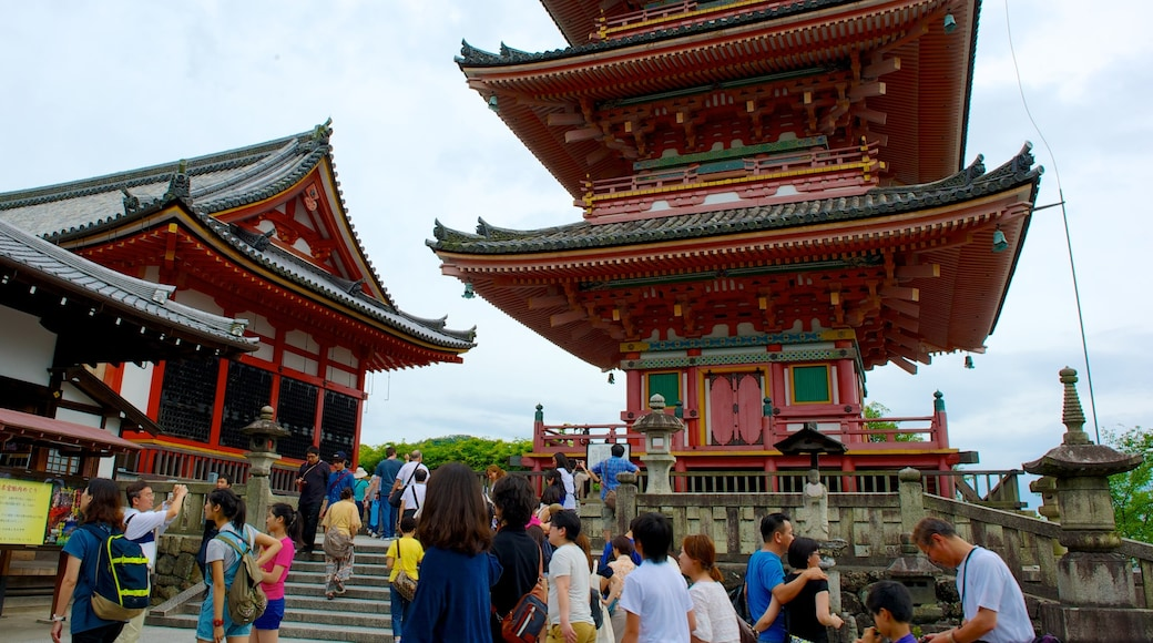 Kiyomizu Temple featuring heritage architecture, religious elements and a temple or place of worship