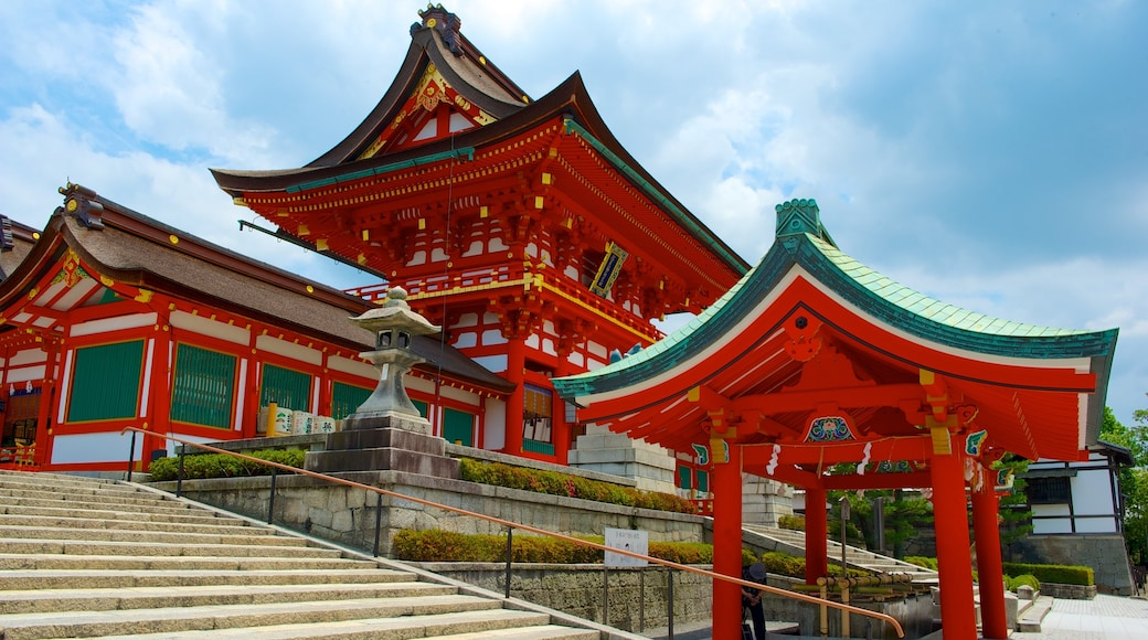 Fushimi Inari Shrine which includes heritage architecture, religious elements and a temple or place of worship