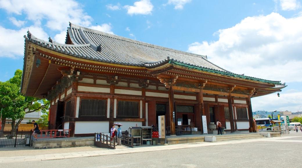 วัด Toji เนื้อเรื่องที่ มรดกทางสถาปัตยกรรม, วัดหรือสถานที่เคารพบูชา และ ภาพท้องถนน