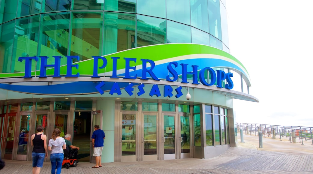 The Pier Shops at Caesars featuring central business district, signage and shopping