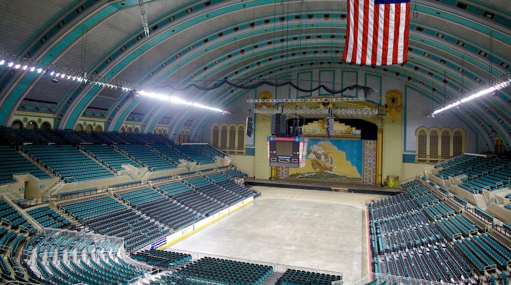 Boardwalk Hall featuring interior views
