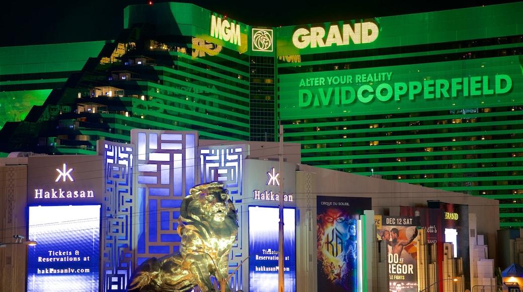 MGM Grand Casino featuring signage