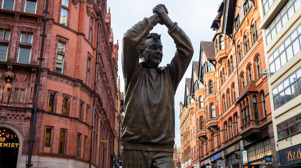 Nottingham City Centre which includes a statue or sculpture