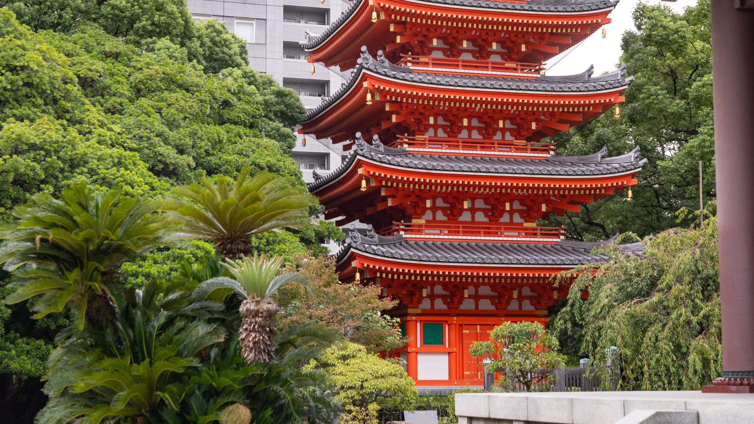 Tochoji-Tempel, Fukuoka, Präfektur Fukuoka, Japan