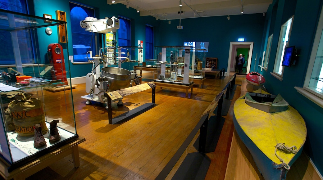 Tasmanian Museum and Art Gallery which includes interior views