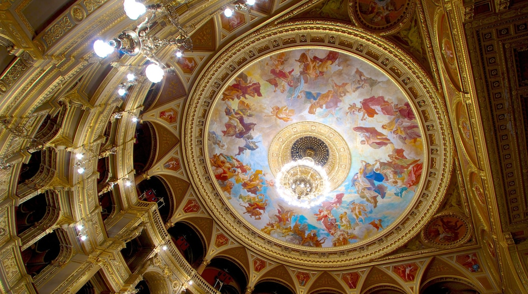 Hungarian State Opera House showing interior views and theatre scenes