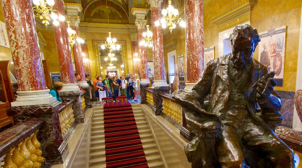 Hungarian State Opera House featuring theatre scenes and interior views