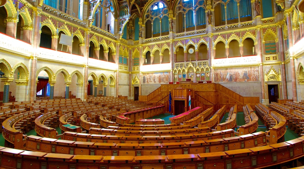 Parliament Building which includes heritage architecture, an administrative building and interior views