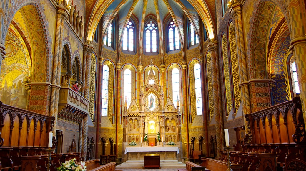 Matthias Church showing a church or cathedral, interior views and religious aspects