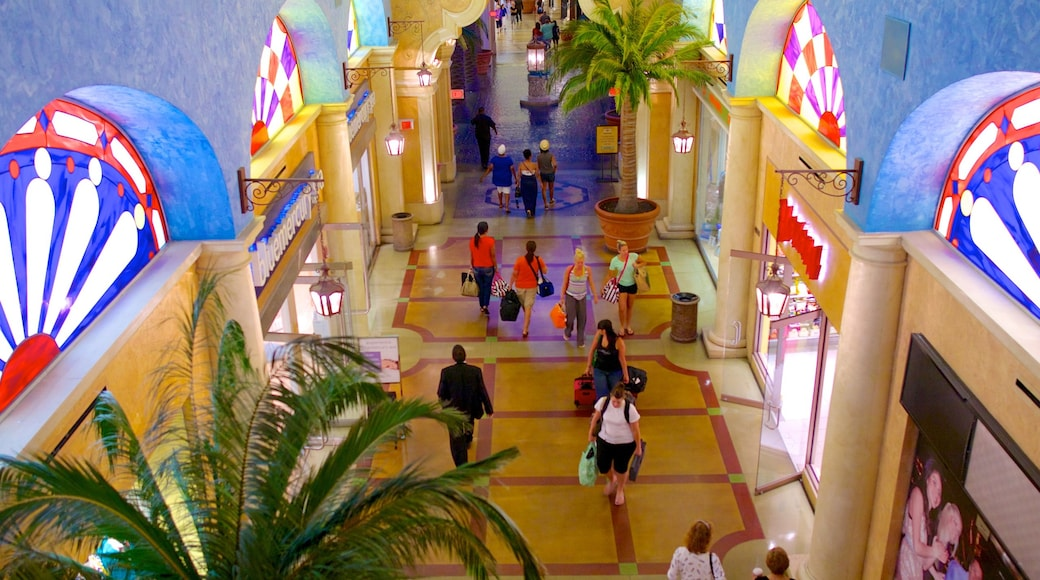 The Quarter at Tropicana featuring interior views and shopping