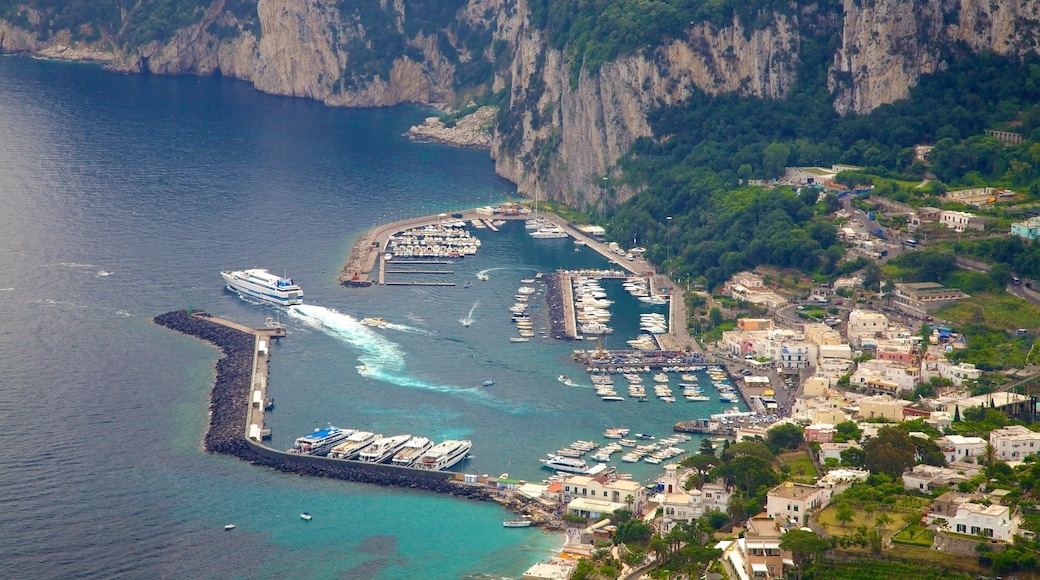 Villa San Michele showing boating, a coastal town and mountains