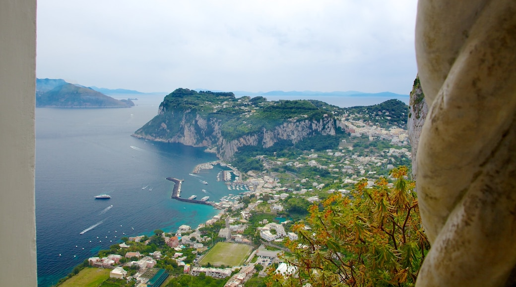 Villa San Michele which includes a coastal town, a bay or harbor and general coastal views