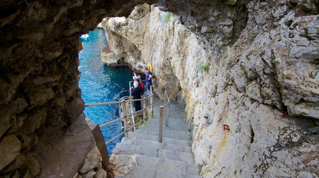 Blue Grotto 其中包括 多岩石的海岸線 和 遠足或散步