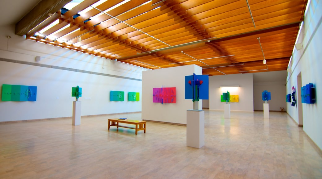Mendel Art Gallery que incluye vistas interiores y arte