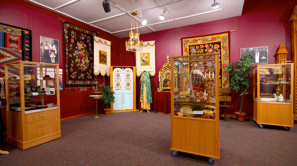Ukrainian Museum of Canada featuring interior views