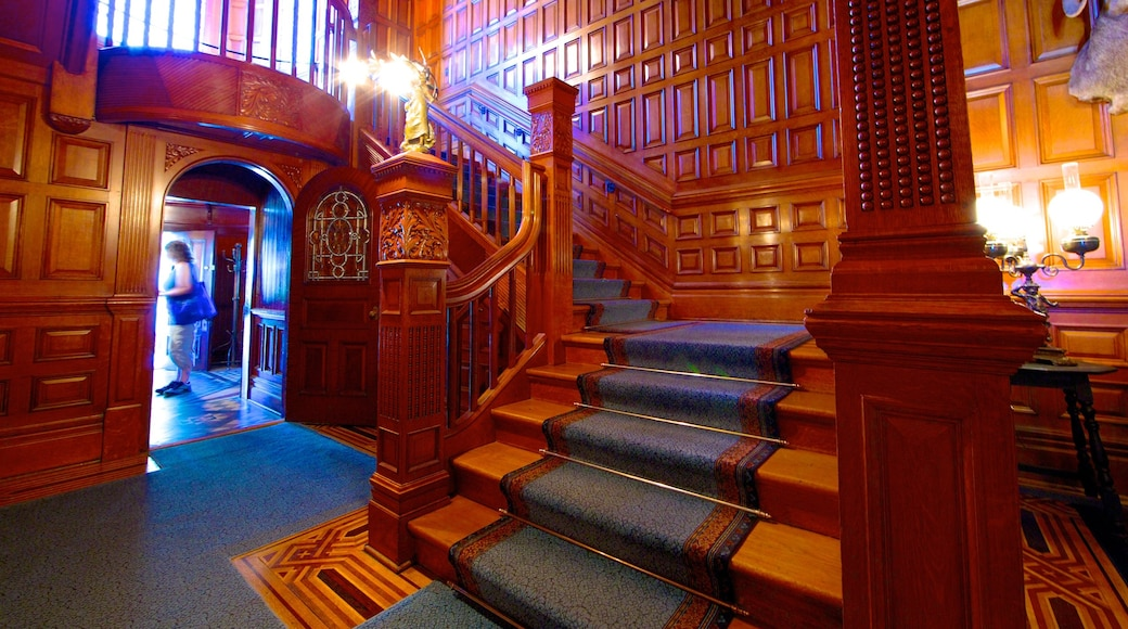 Craigdarroch Castle featuring interior views and heritage architecture