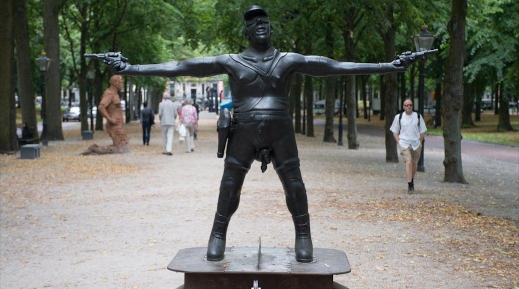 Lange Voorhout mostrando uma estátua ou escultura