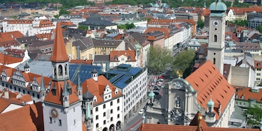 Upper Bavaria featuring landscape views and a city