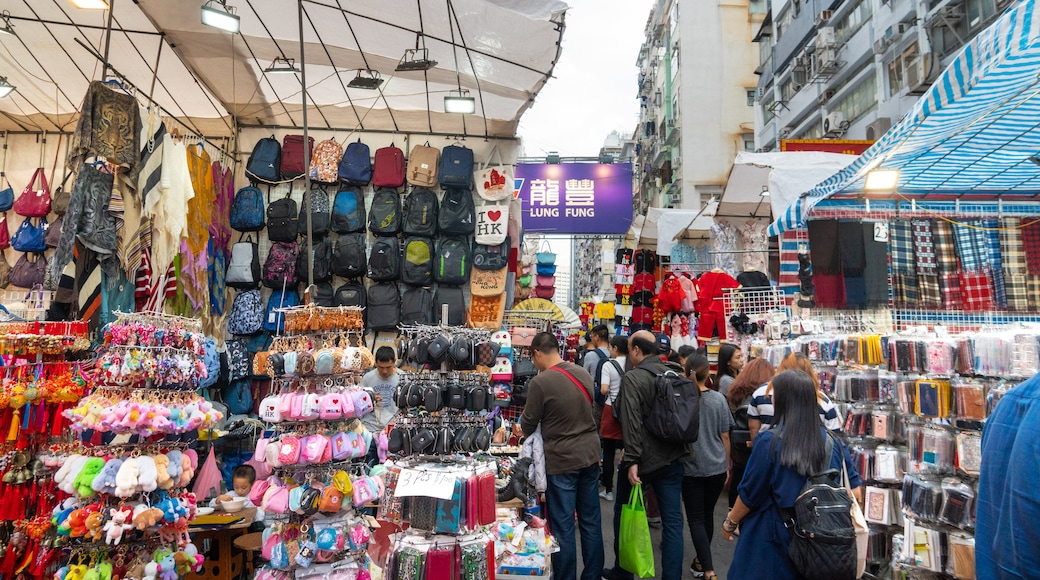 Mong Kok featuring markets and street scenes