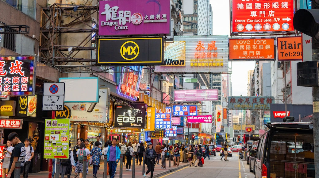 Mong Kok featuring a city, signage and city views