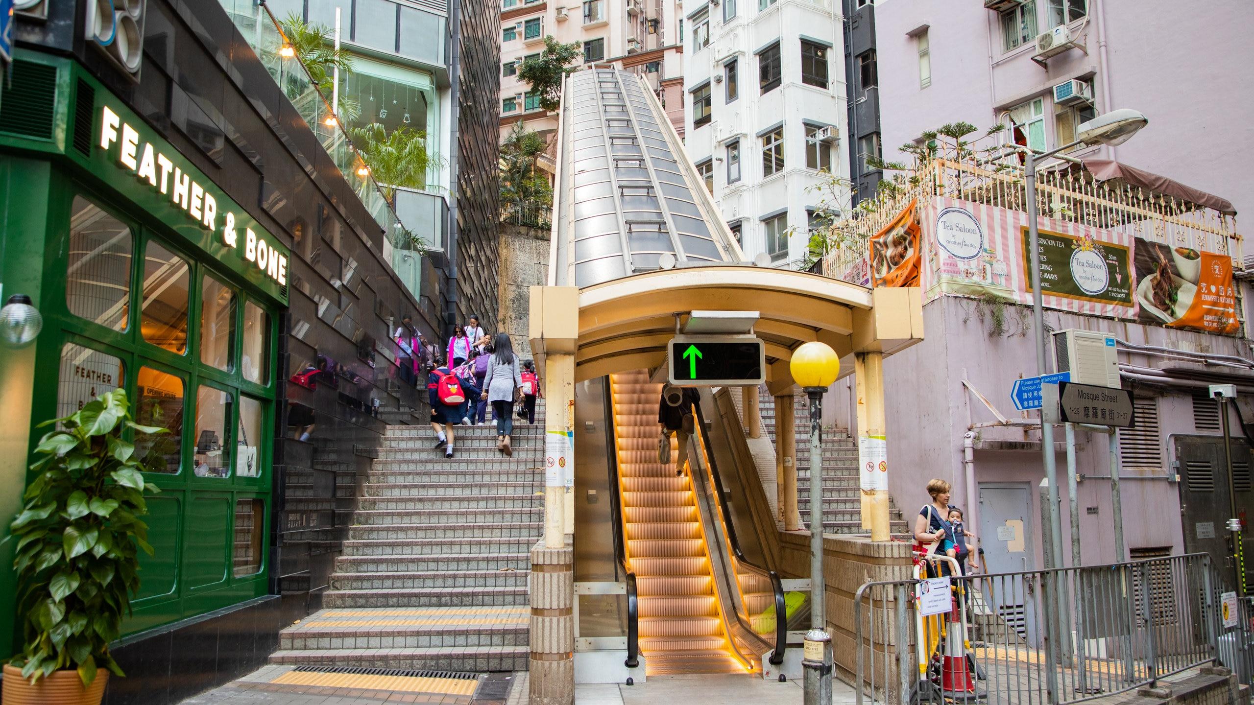 Mid-levels Escalators, Hong Kong, Hong Kong SAR