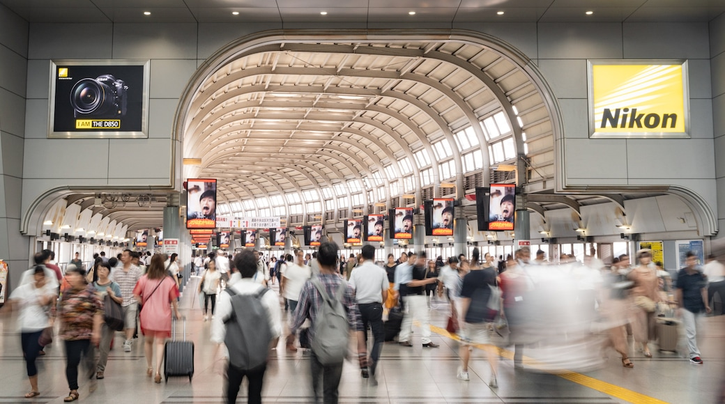 Shinagawa which includes interior views as well as a large group of people