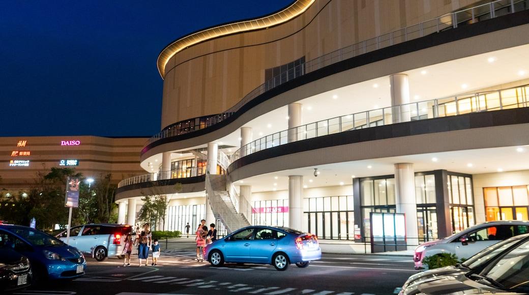 Aeon Mall Chiba featuring night scenes