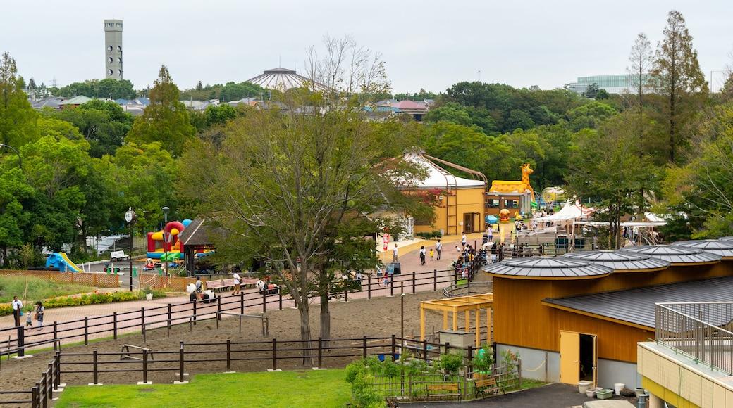 Chiba Zoological Park showing landscape views