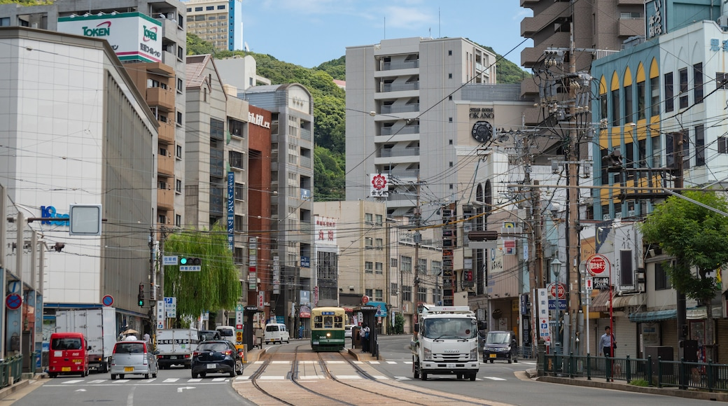 Ryukyu Islands which includes a city and street scenes