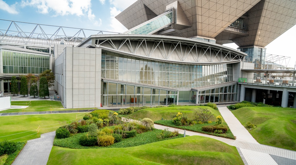 Tokyo Big Sight which includes a garden and modern architecture