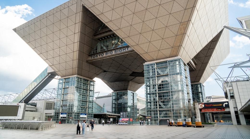 Tokyo Big Sight showing modern architecture