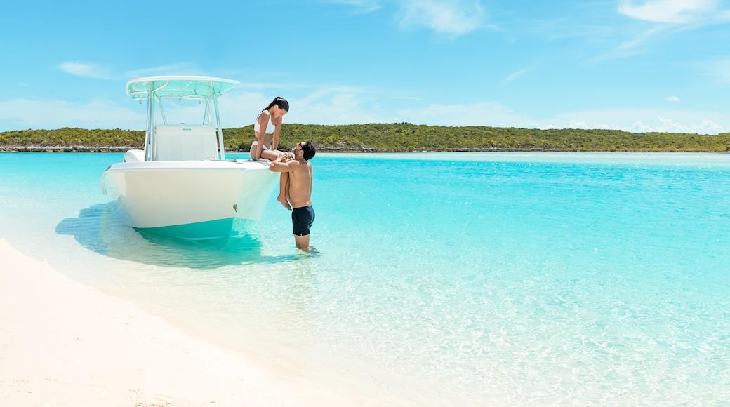 Exuma featuring general coastal views, tropical scenes and a sandy beach