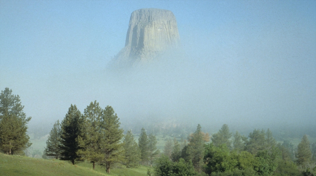 Wyoming featuring landscape views, mist or fog and mountains