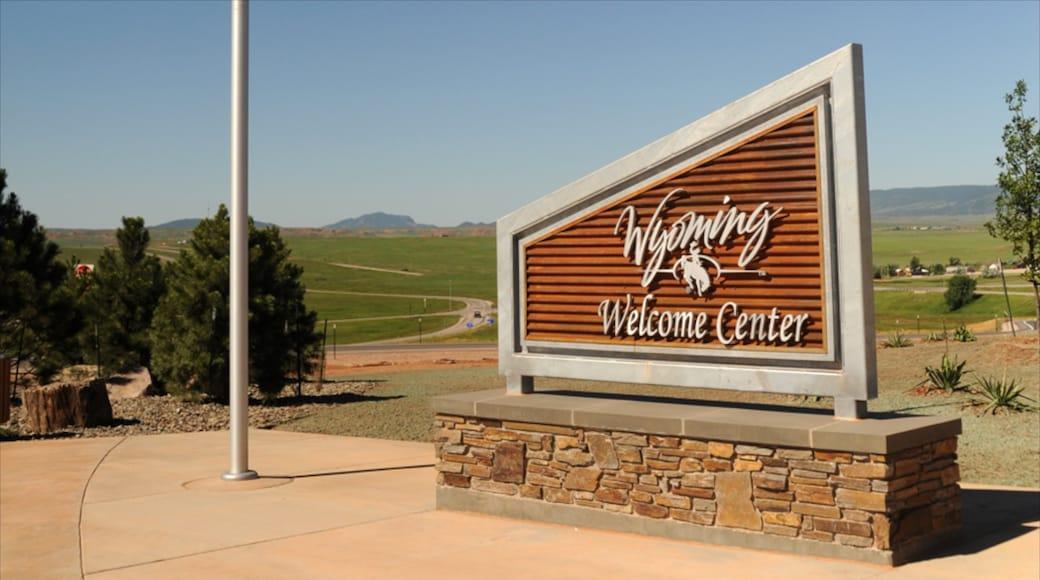 Wyoming showing signage