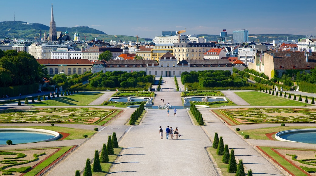 Belvedere featuring a garden, a square or plaza and heritage architecture