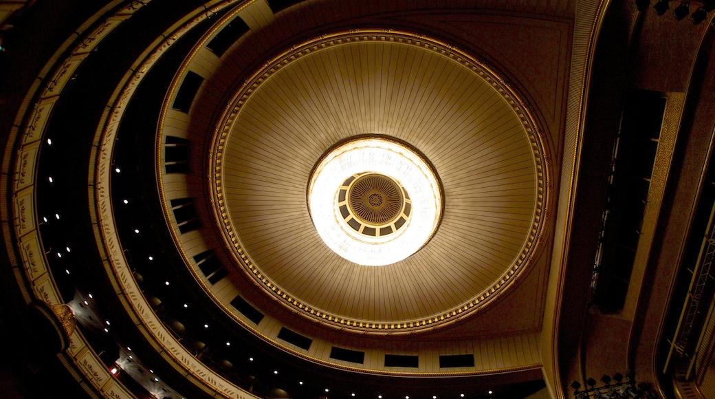 Wiener Staatsoper welches beinhaltet Theater und Innenansichten