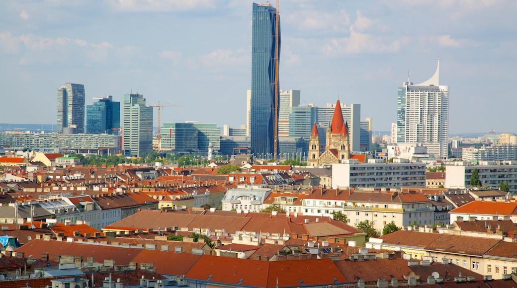 Wiener Prater bevat steden, hoogbouw en een stad