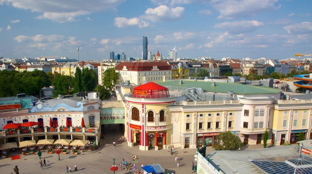 Wiener Prater inclusief een plein, een stad en landschappen