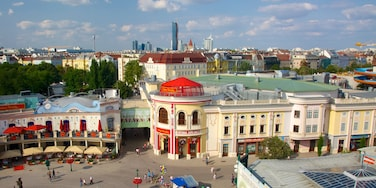 Wiener Prater which includes landscape views, a square or plaza and a city