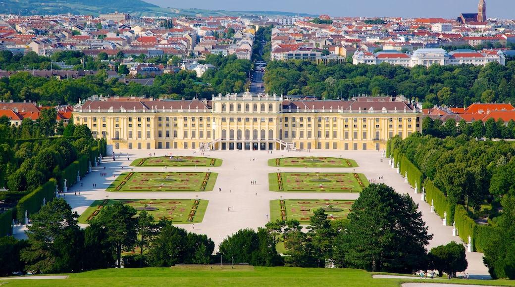 Schloss Schönbrunn inclusief kasteel of paleis, een plein en een stad