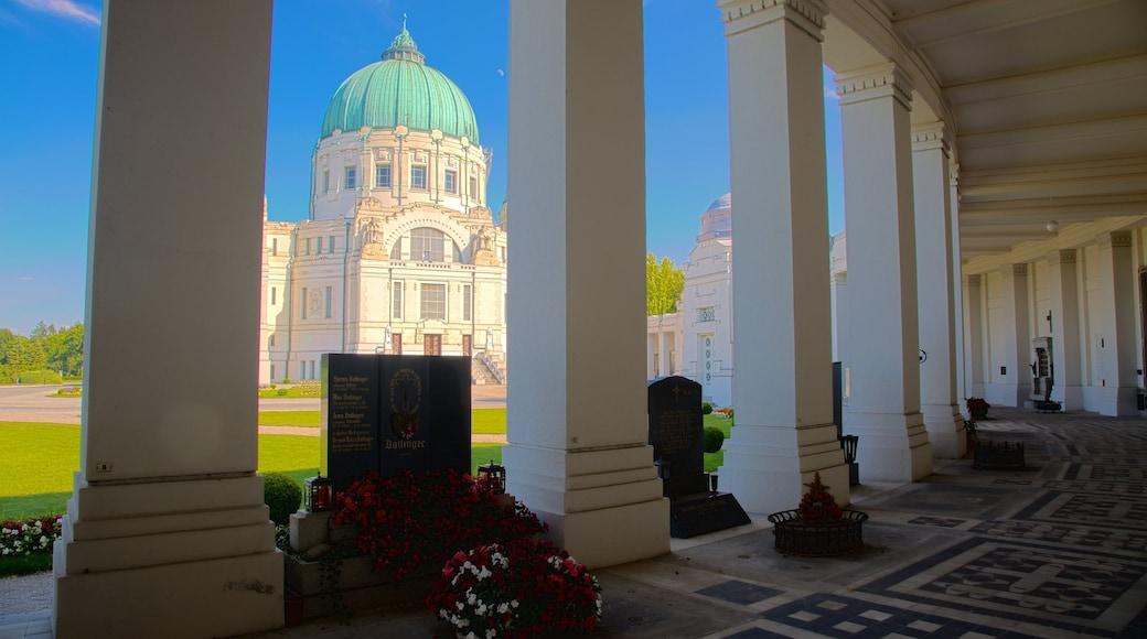 Wiener Zentralfriedhof inclusief historische architectuur, een begraafplaats en een monument