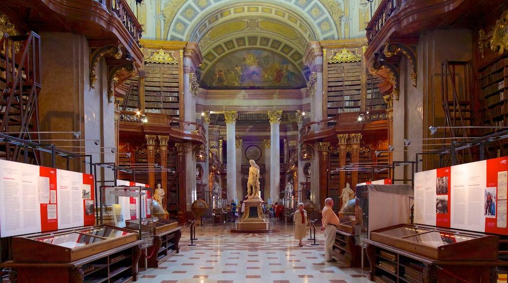 Österreichische Nationalbibliothek mit einem Innenansichten, Verwaltungsgebäude und historische Architektur