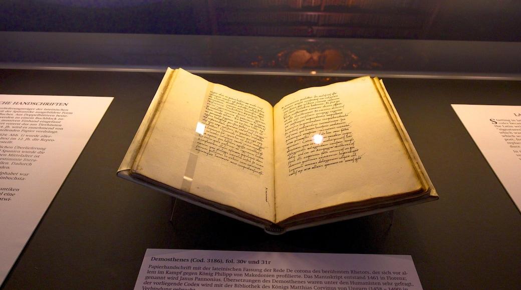Österreichische Nationalbibliothek mit einem Innenansichten