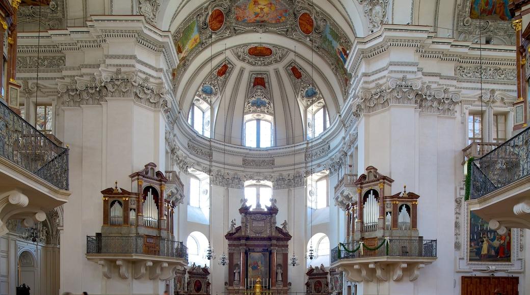 Salzburger Dom das einen Geschichtliches, religiöse Aspekte und Innenansichten