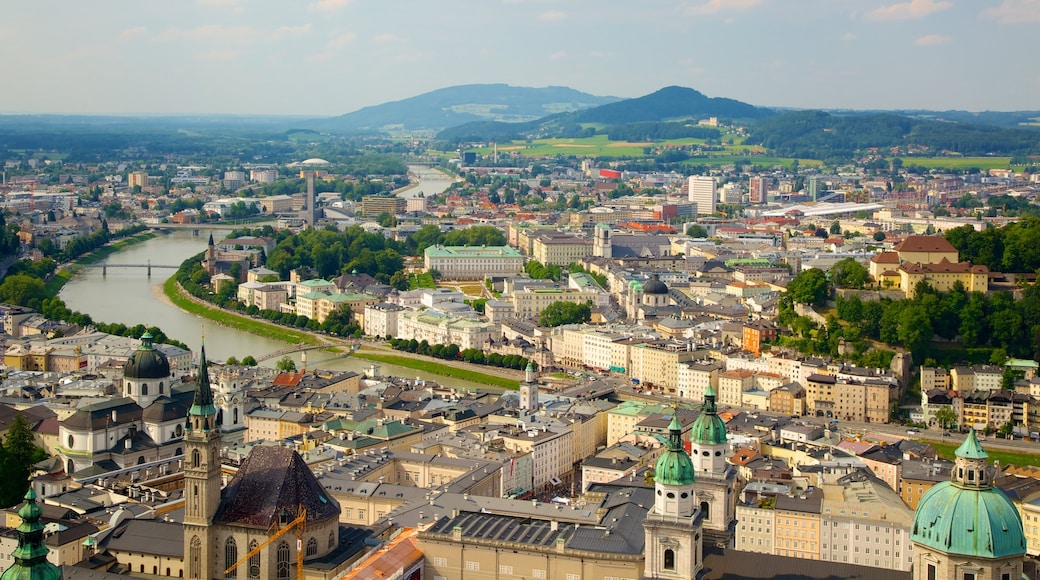 Festung Hohensalzburg featuring a river or creek, a city and heritage architecture