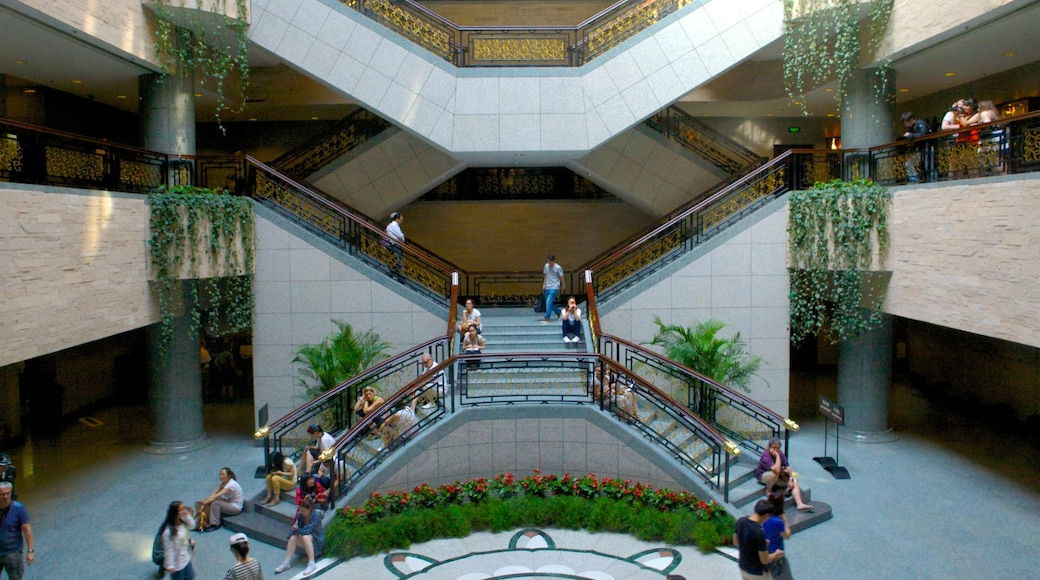 Shanghai Museum showing interior views