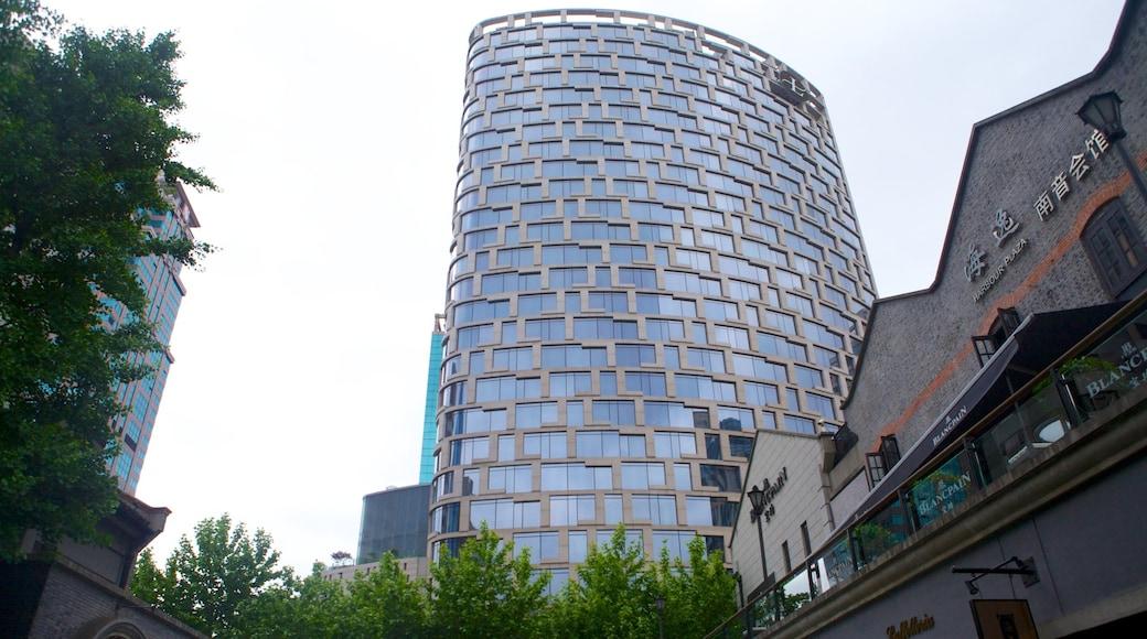 新天地 呈现出 摩天大樓, 城市 和 核心商業區